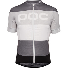POC Essential Road Logo Jersey Men steel multi grey